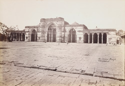General view of the façade of the Jami Masjid, Ahmadabad 1714